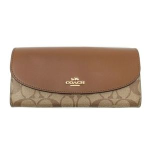 100% Auth Coach Bifold New Wallet
